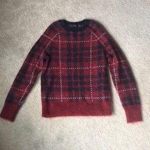 JCrew Plaid Wool and Mohair Sweater